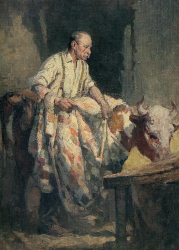 Percy Leason 'The Patched Cow Rug' (oil painting) in Art in Australia, no. 6, 1919