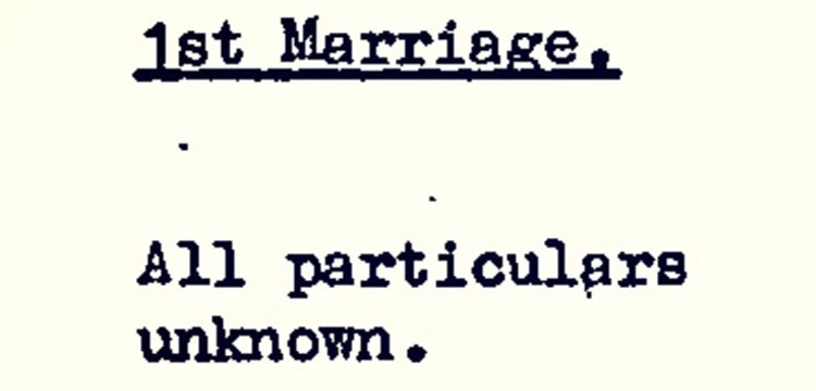 All particulars unknown - from Elizabeth O'Brien's death certificate