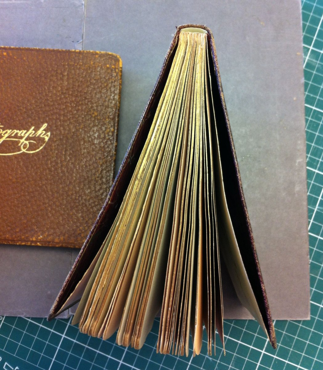 The finished book bound back into its original cover