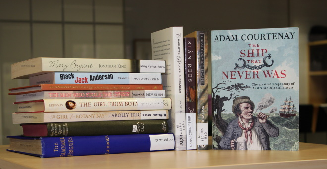 A selection of published books about Australian pirate history.