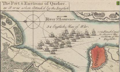 Peter Andrews' A Plan of Quebec, 1759