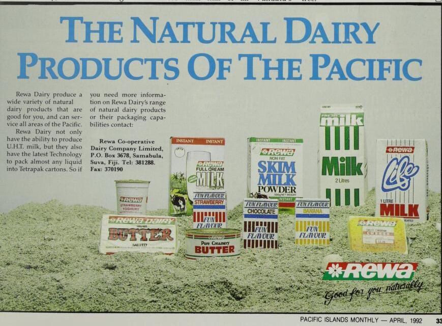 Rewa dairy products ad