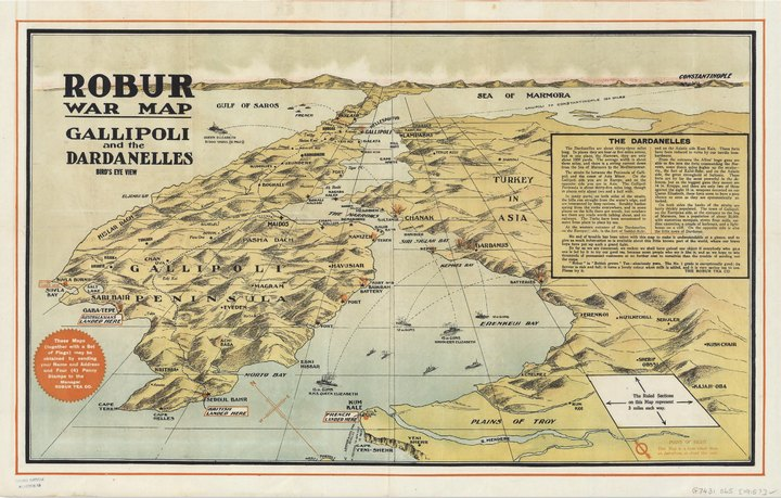 Robur War Map, 1915