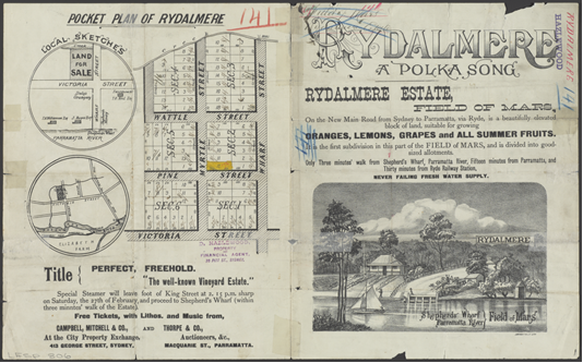 Pocket plan of Rydalmere