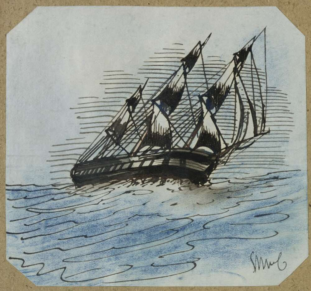 Painting of sailing ship