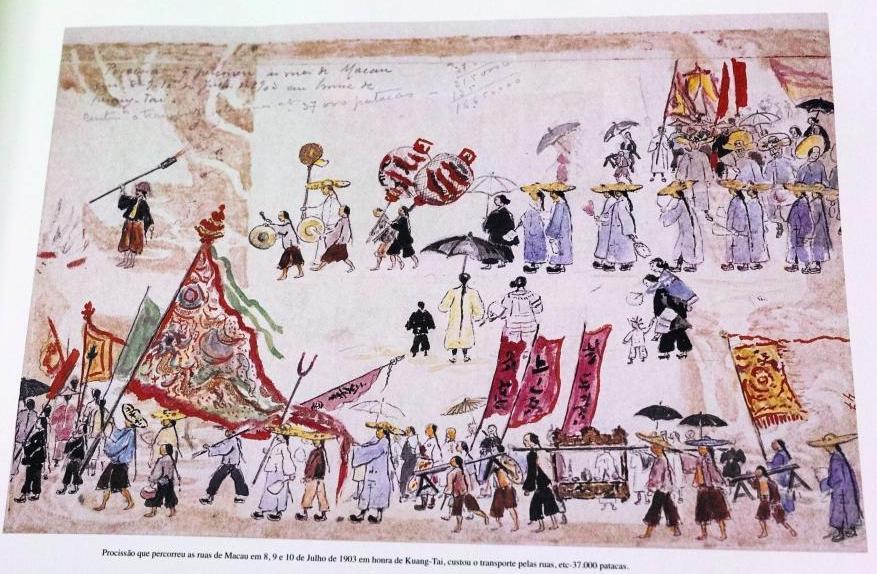 Paiva's drawing of Kuang-Tai procession