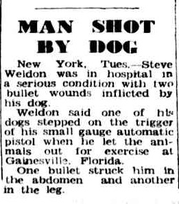 Article about a man shot by a dog