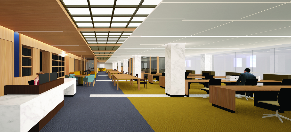 The new reading room design