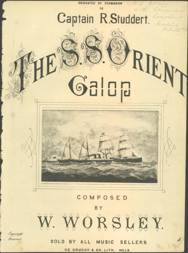 The S.S. Orient galop [music]