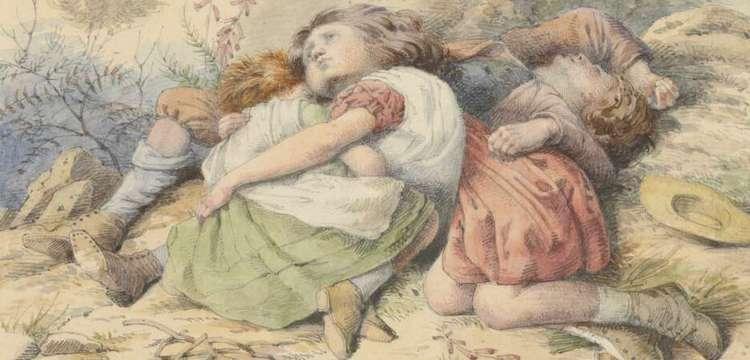 Crop of William Strutt's The Little Wanderers