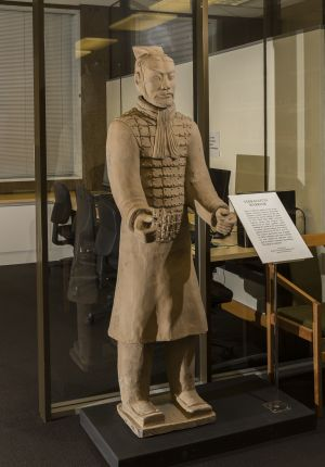 Replica Terracotta warrior in the Asian Collections reading Room