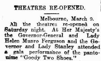 Theatre reopening article