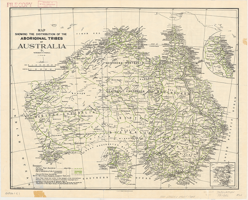 Tindale's map
