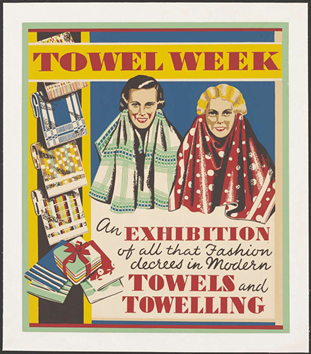 Two women modelling towels