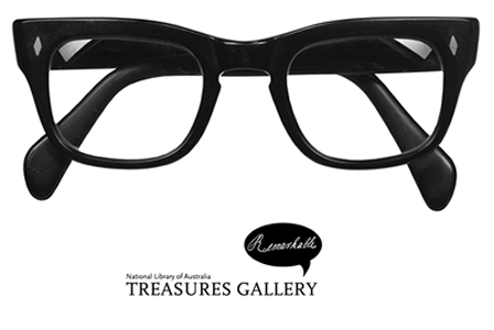 Patrick White's glasses. Treasures Gallery