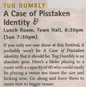 Tug Dumbly A Case of Pisstaken Identity