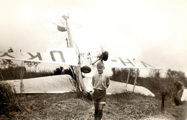 Photograph of a plane crash
