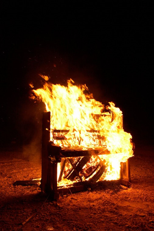 Picture of burning piano