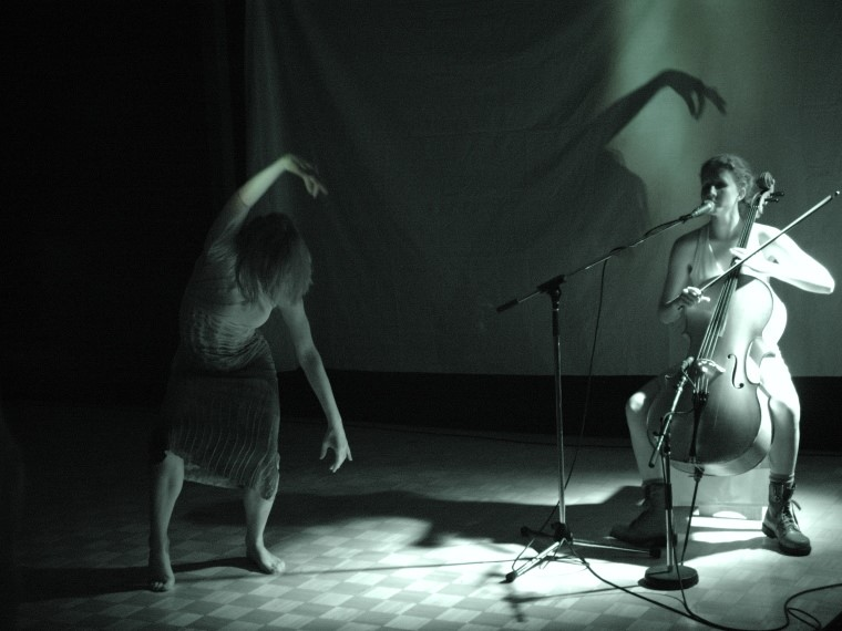 Picture of dancer and cellist