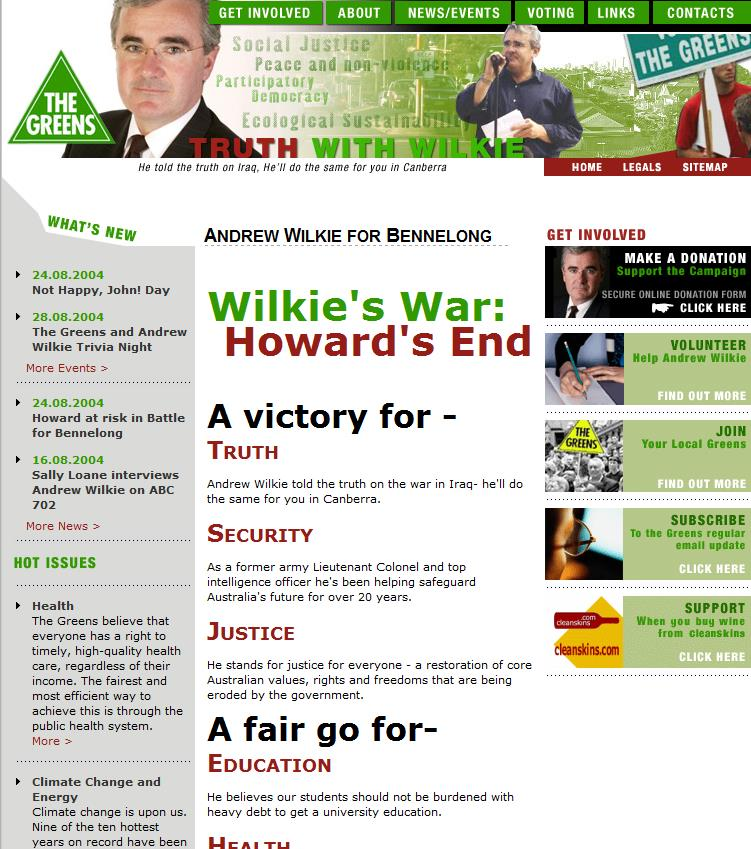 Andrew Wilkie Greens candidate