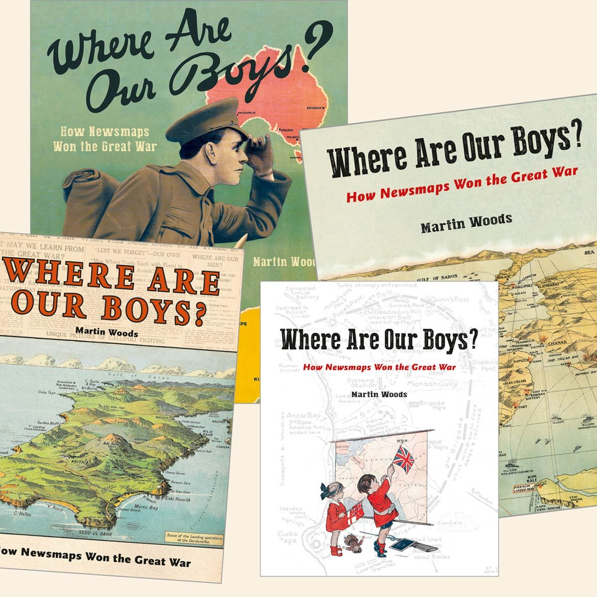 Alternative cover designs for Where Are Our Boys?