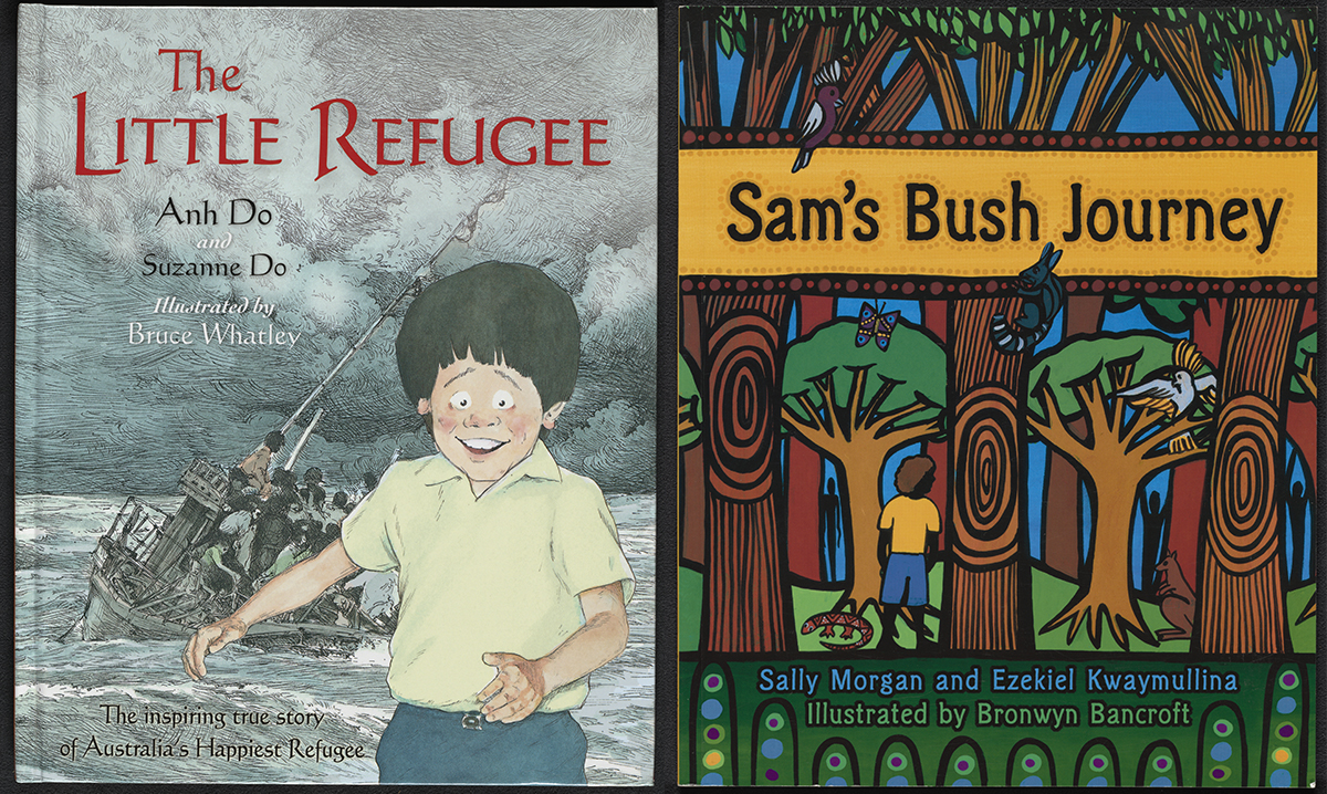 Cover of The Little Refugee and Sam's Bush Journey