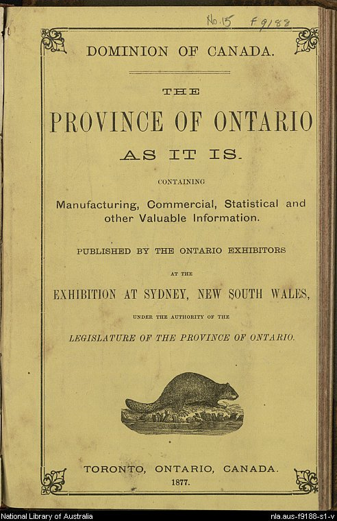 The Province of Ontario as it is