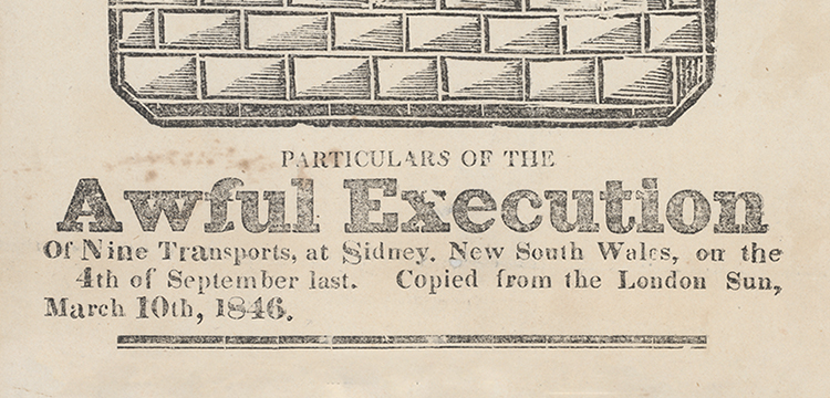 'Awful Execution' pamphlet (detail)