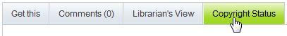 Copyright Status tab