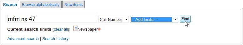 Searching by call number