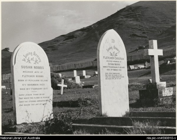 Cemetery Norfolk Island September 1961