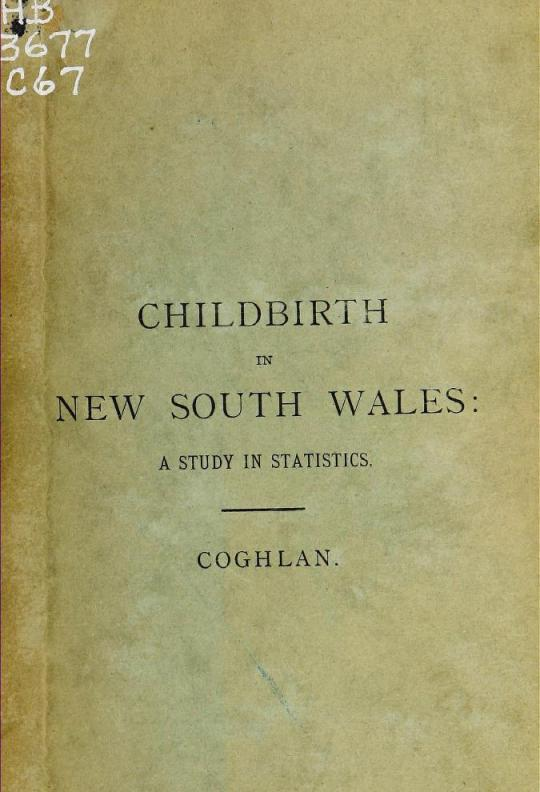 Childbirth in New South Wales : a study in statistics