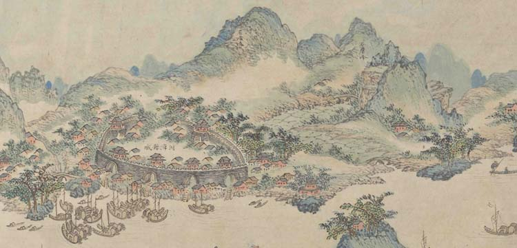 Map of southern march mount, China
