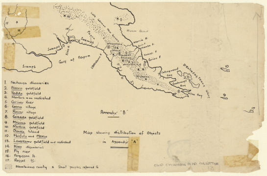 Manuscript map of PNG