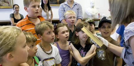 Children listening at a Library activity
