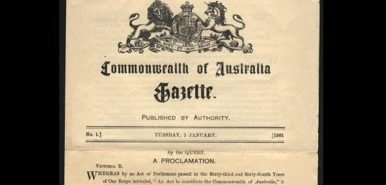 Commonwealth of Australia Gazette No. 1