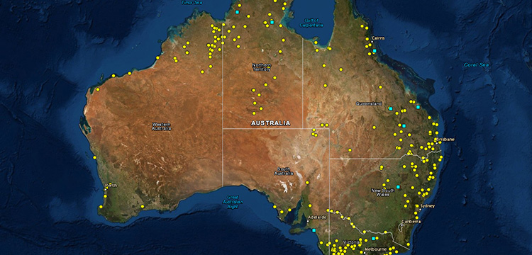 Map of frontier massacres across colonial Australia