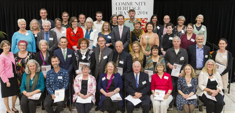 2014 community heritage grants recipients
