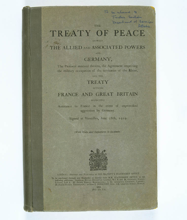 Treaty of Versailles 1919 (including Covenant of the League of Nations)