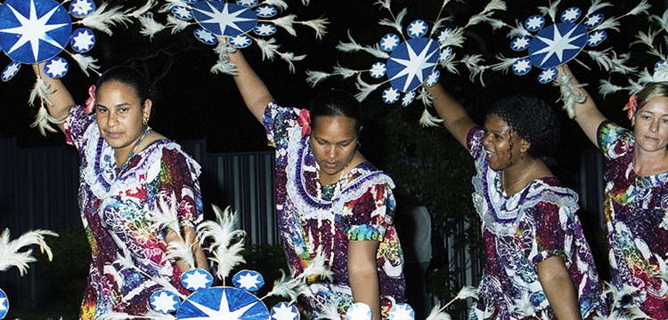 Photo of Torres Strait Island Women Dancing