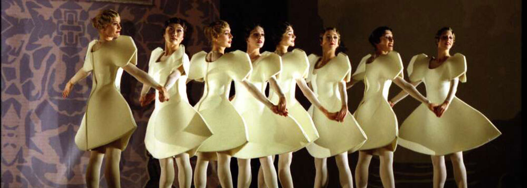 Dancers of The Australian Ballet as Cut-out Dolls in Wild Swans