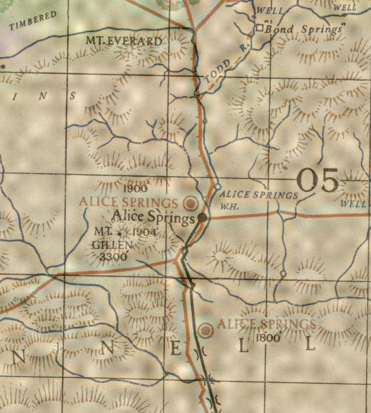 Detail from Alice Springs, Northern Territory [cartographic material]