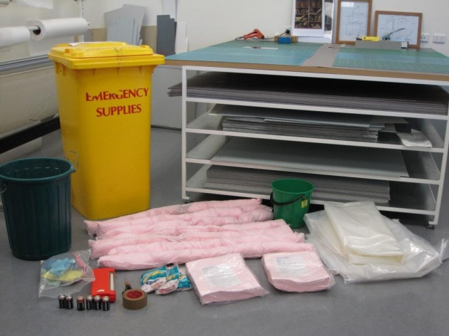 Photo of disaster recovery supplies