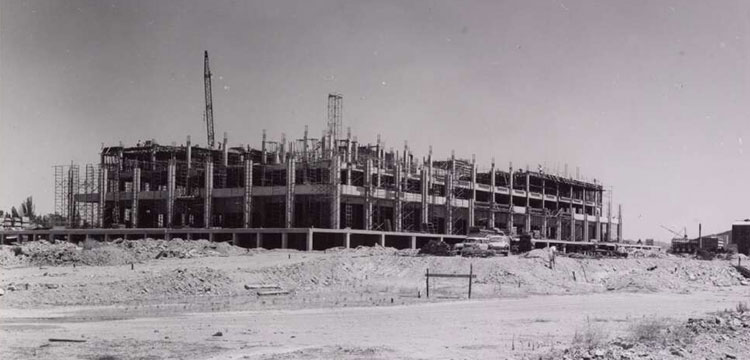 Photo of the National Library being built