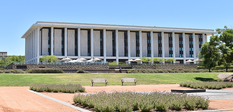 The National Library of Australia; Photo by Stephanie Morris
