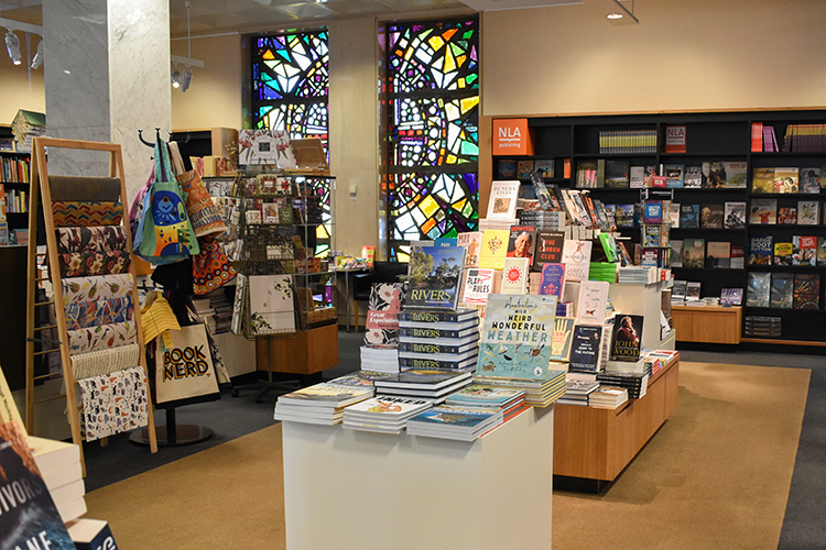 inside the National Library Bookshop