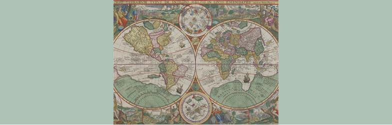 Petrus Plancius (1552–1622), Orbis Terrarum Typus de Integro Multis in Locis Emendatus 1594. Kerry Stokes Collection, Perth, 2010.044