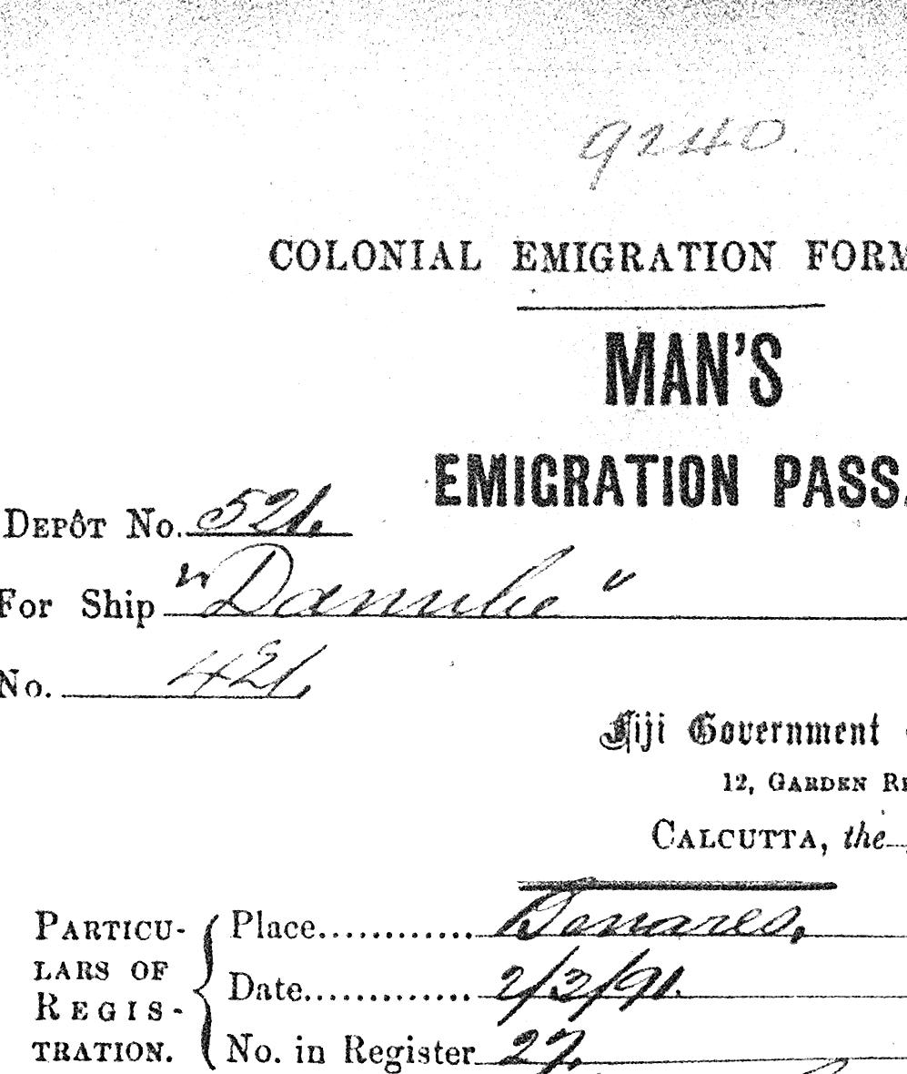 Detail from Emigration Pass