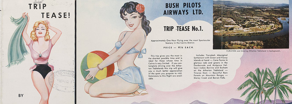 Retro style airline advertisement