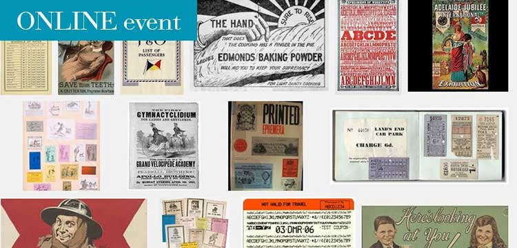 pictures of different printed ephemera objects